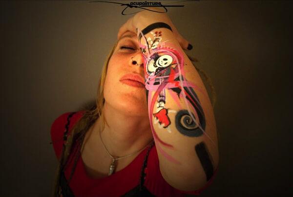 Body Painting com POSCA - 003
